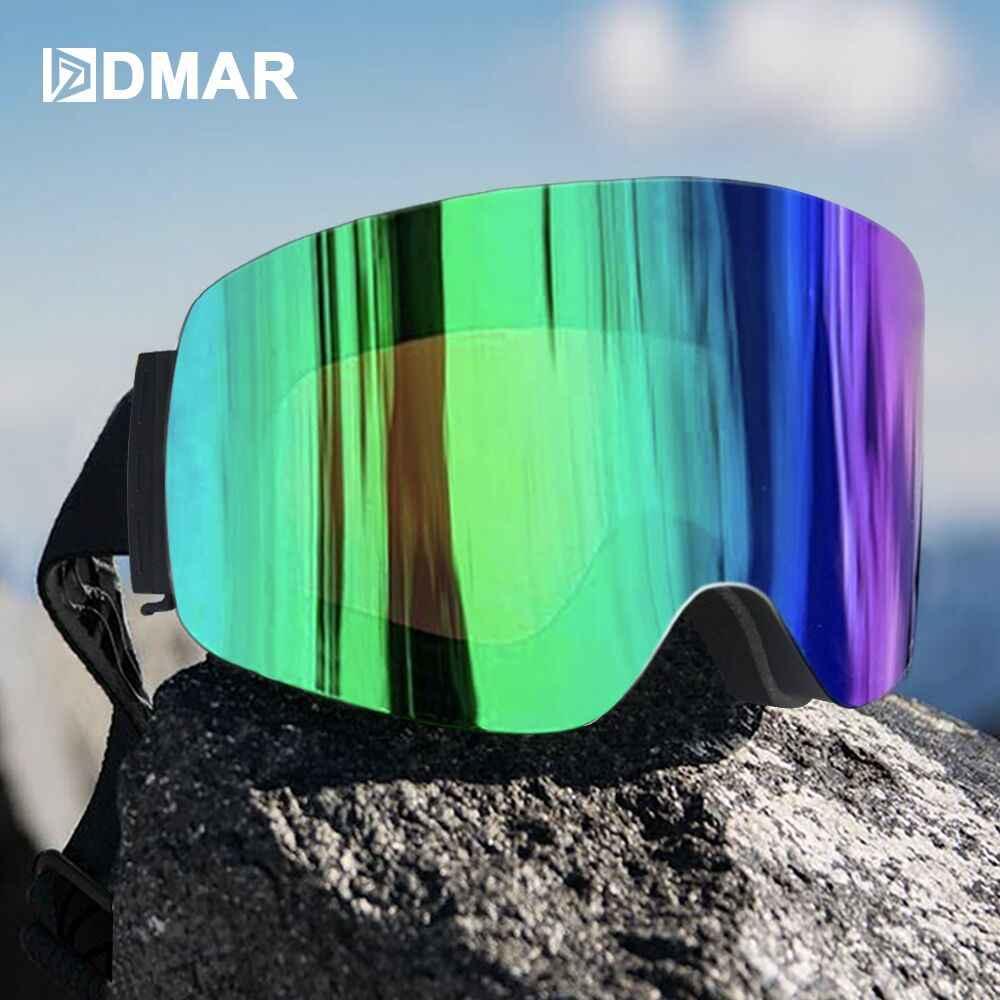 DMAR kayak gözlüğü anti-sis koruma sıcak tutmak gözlük erkekler kadınlar kar gözlüğü paten maskesi