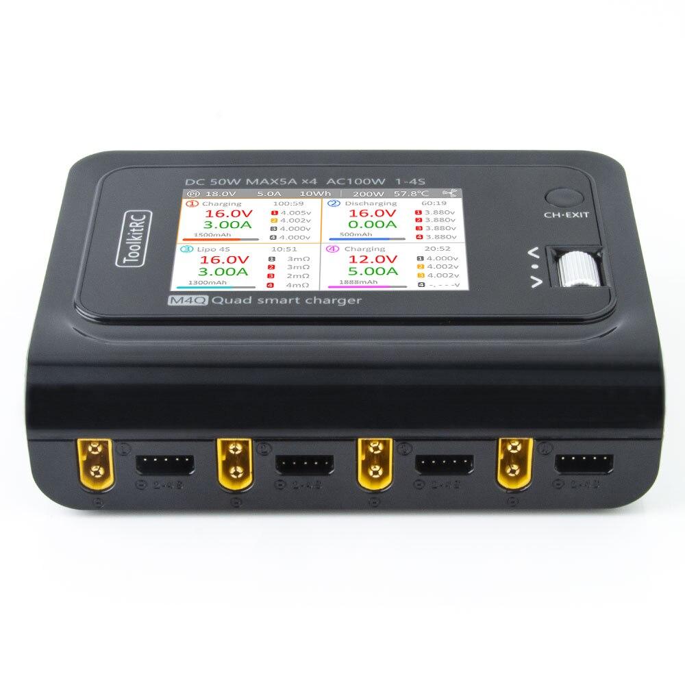 Умное зарядное устройство с 4 портами XT60 XT30 DC, 32 бит, IPS-экран