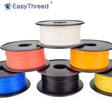 Easythreed filamento para impressora 3d, pla, 250g / 500g/1kg, 1.75mm de diâmetro eco frindly, suave acabamento 3d impressão consumíveis