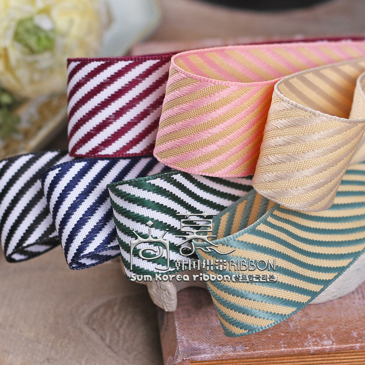 100yards 25mm 38mm double colors twill stripes ribbon for garment apparel accessories hair bow diy craft supplies