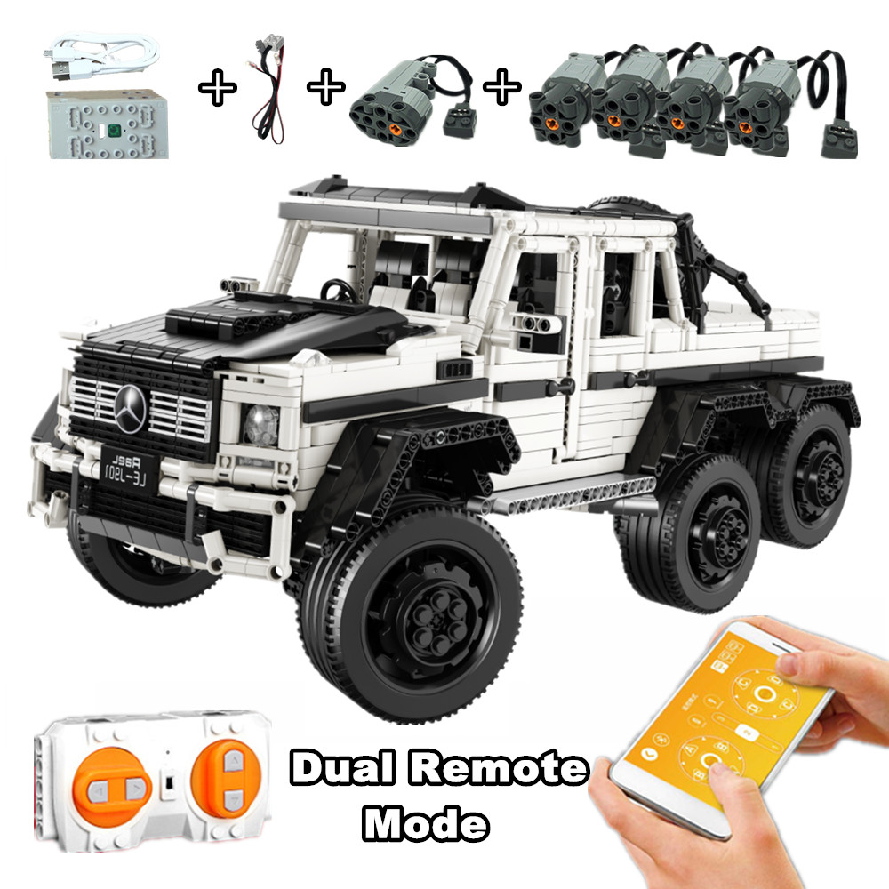 AMG G63 New Scale 1:8 Banz 6X6 Compatible with Iegoset Technic MOC Building Blocks Bricks Educational Toys best Christmas gifts