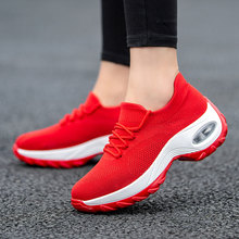 MWY Flying Woven Wedges Casual Shoes Women High Heel Sneakers Platform Zapatilla De Mujer Outdoor Walking