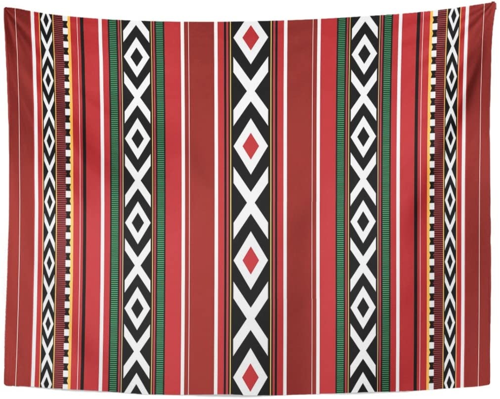 Black UAE Detailed Traditional Sadu Red Qatar Bedouin Tapestry Home Decor Wall Hanging For Living Room Bedroom Dorm 60x80 Inches