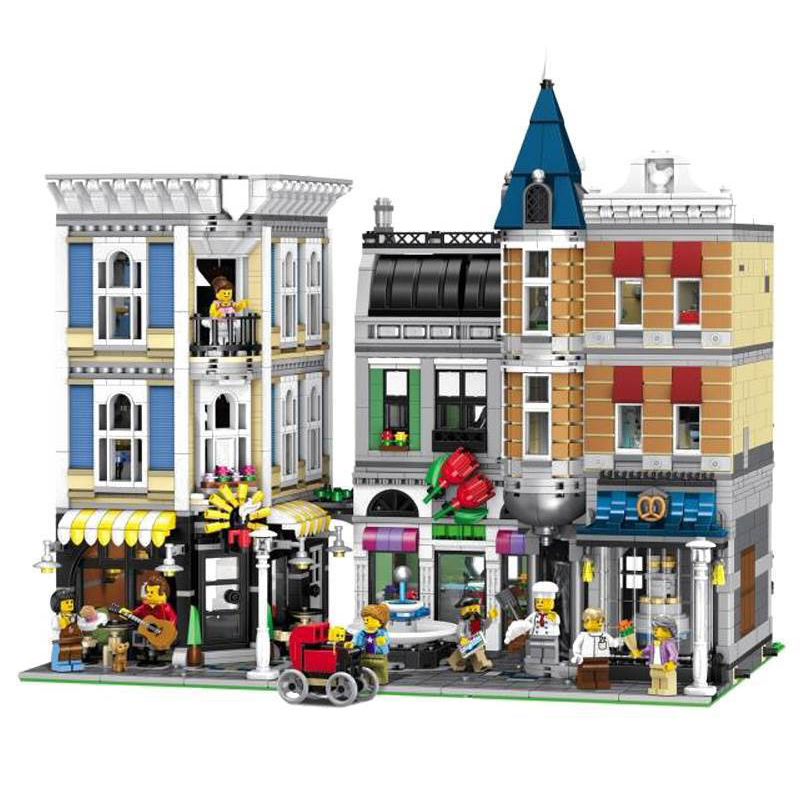 15019 MOC Building Toys Series Compatible lepining 10255  Assembly Square Set Kids Toys Building Blocks Bricks Christmas Gift