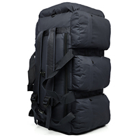 ABZC 90L Large Capacity Outdoor Hiking Backpack Military Tactical Pack Camouflage Luggage Bag Camping Tent Quilt Container 9 Po