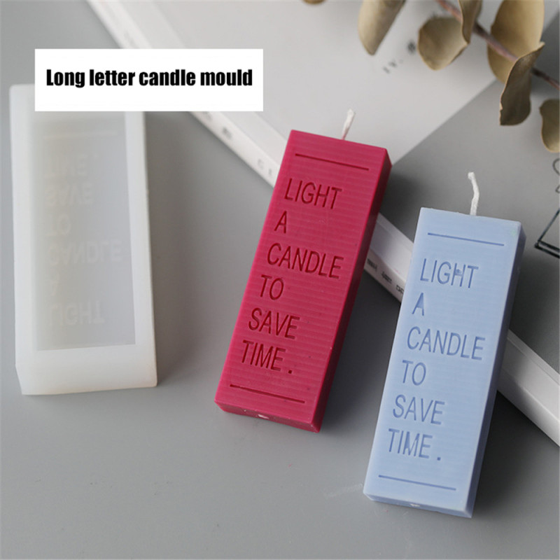 Rectangle Letter Candle Mold INS Popular Style Scented 3D DIY Candle Making Mold Craft De Silicona Cemento Candle Silicone Mould