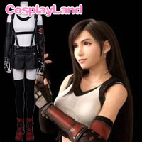Game Cospaly Tifa Lockhart Cosplay Suit Final Fantasy VII Remake Tifa Cosplay Costume Skirt Halloween Sexy Strap Shirt FF7