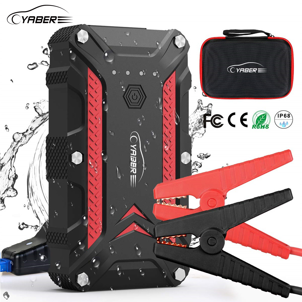 Yaber Real 10000mAh Jump Starter Emergency Car Jump Starter Battery Power Bank Auto Booster Peak 1200A Current  For 12V Car