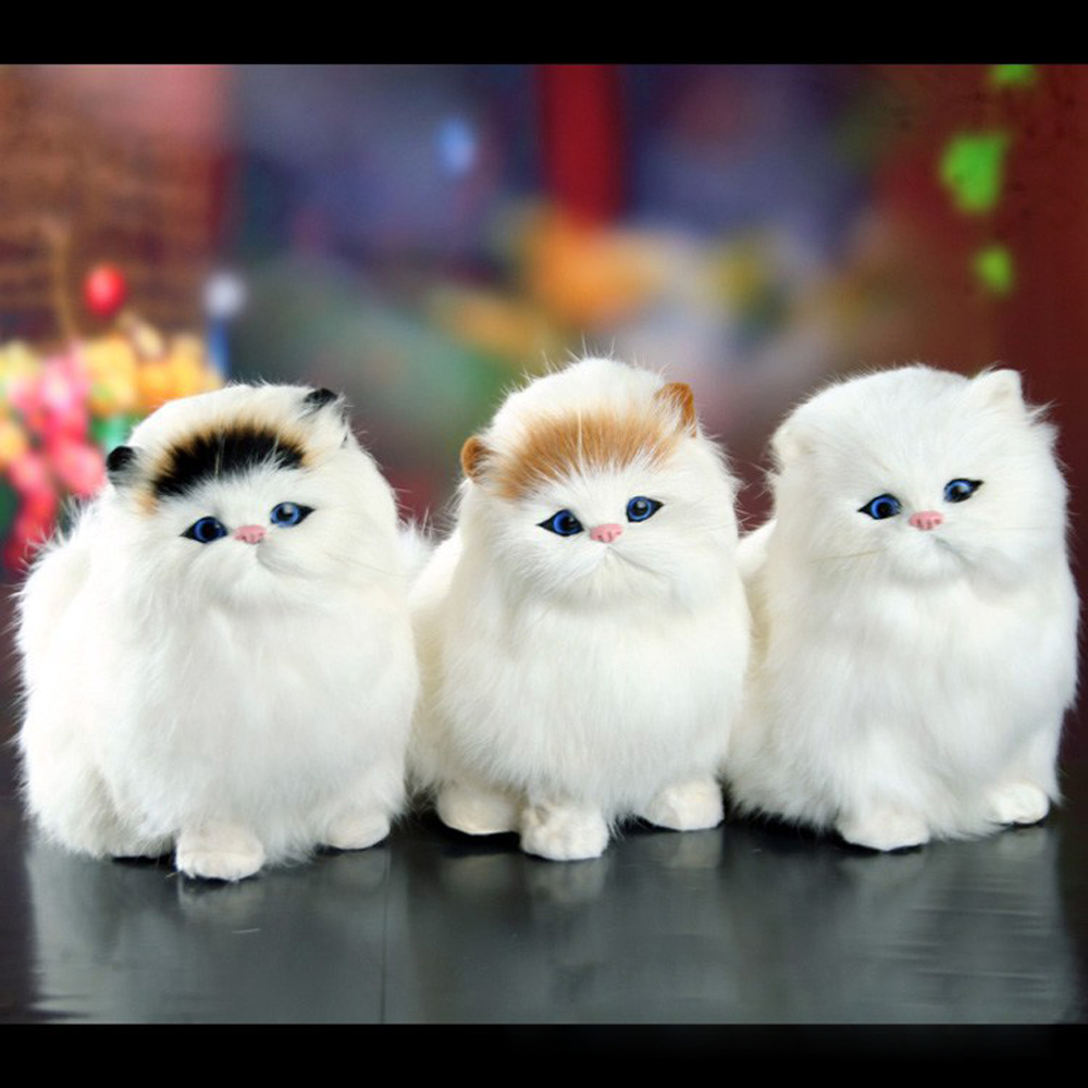 Simulation stuffed plush cats toy soft sounding Electric cat doll toys for kid S