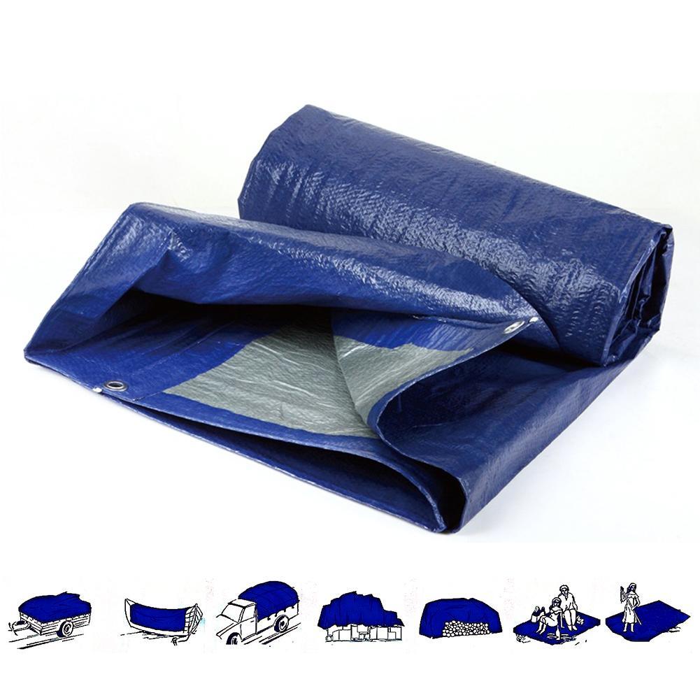 Waterproof Camping Tarpaulin Cover Simple Tent Heavy Duty Tarp Ground Camping Sheet 4 Sizes