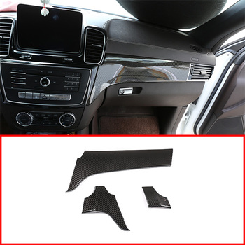 ABS Plastic Car Interior Center Console Protection Panel Cover Trim Accessory For Mercedes Benz GLE 350 GLS 400 Class 2013-2019