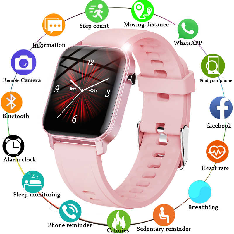 "LIGEผู้หญิงSmart Watch IP68 กันน้ำ 1.4 ""Full Touch Screen Smart Watch Heart Rate Fitness Tracker Men Smart Watch"
