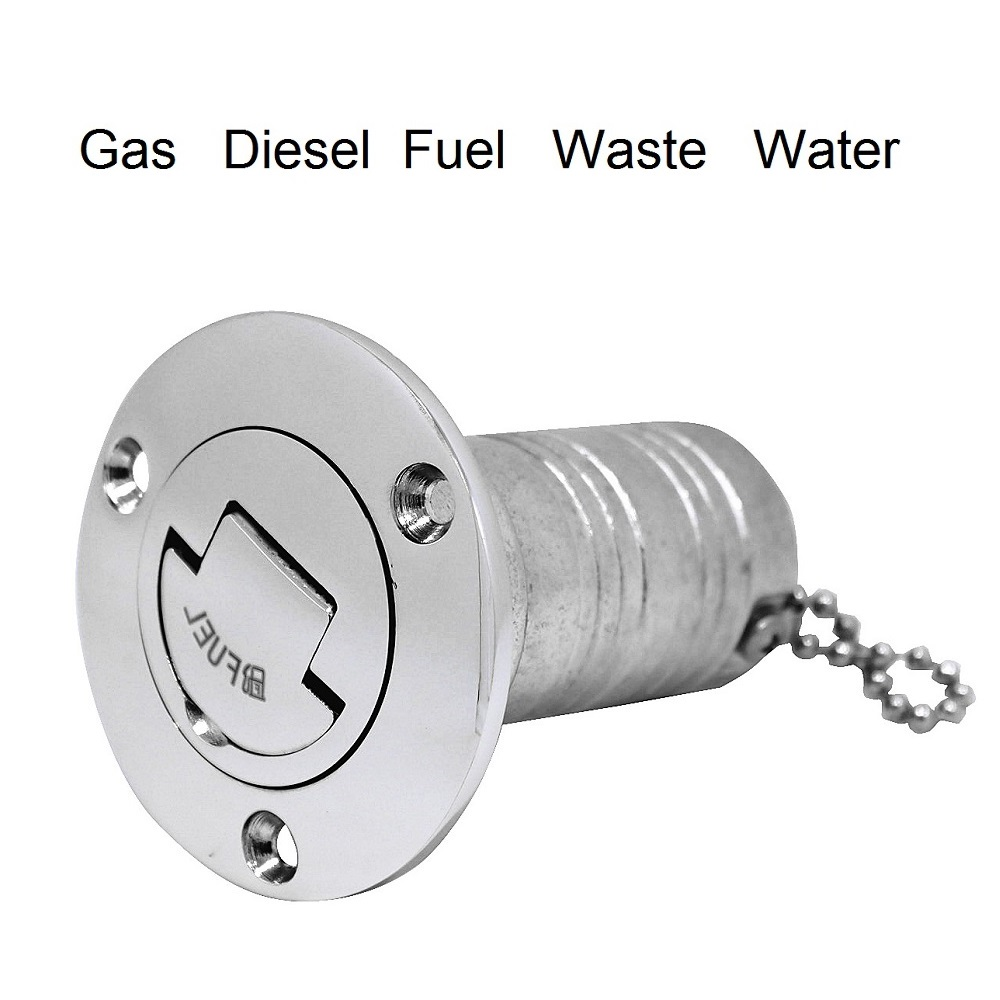 316 Stainless Steel Marine Boat Deck Fuel Filler Caps GAS DIESEL FUEL WASTE WATER 38mm 50mm Fill Caps Yacht Hardware Accessories