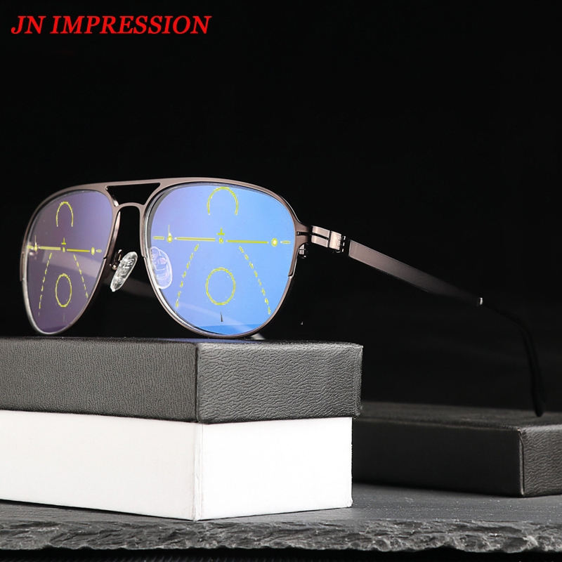 JN IMPRESSION Transition Progressive Multifocal <font><b>glasses</b></font> <font><b>Reading</b></font> <font><b>Glasses</b></font> <font><b>Men</b></font> Points for Reader Near Far sight 1.25 1.75 <font><b>2.25</b></font> 2.75 image