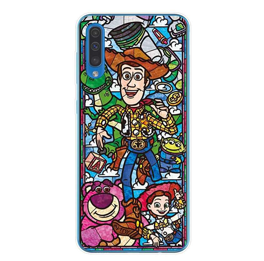 Funda para Samsung Galaxy A7 2018 A750 A6 A6Plus A8 A8Plus dibujos animados Disneys funda de silicona para Samsung Galaxy A10 A30 a50 2019 cubierta