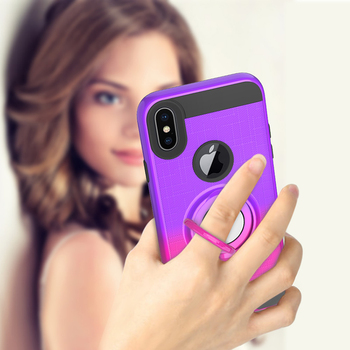 Funda de soporte de anillo TPU para iphone 7 8 6 6s plus funda para iphone XR 11 Pro X Xs Max Color de golpe soporte de anillo funda de teléfono Capa