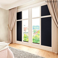 New decorative window film shading 17.7 x 78.7 inches (45CM x 200CM) self adhesive privacy toned black sticker