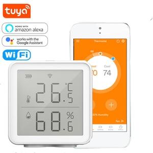 Tuya WIFI Temperature And Humidity Sensor Smart Home Indoor Intelligent Sensor Thermometer Humidity Meter Work With Alexa Google