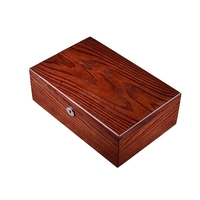10 Slots Wood Watch Box with Lock New Mens Wooden Watch Storage Case Brown Watch Display Boxes Jewelry Gift Box