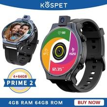 """KOSPET reloj inteligente KOSPET PRIME 2 para hombre, 4G, Android 10, 4GB, 64GB, GPS, cámara de 13MP, 2020 mAh, 1600"""""""