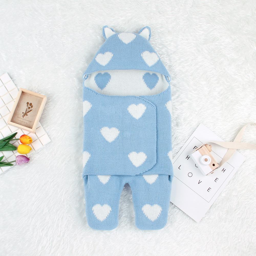 Baby Sleeping Bags Newborn Bebes Hospital Discharge Envelopes Autumn Winter Knitted Infantil Boys Girls Stroller Sleep Sack 0-6M