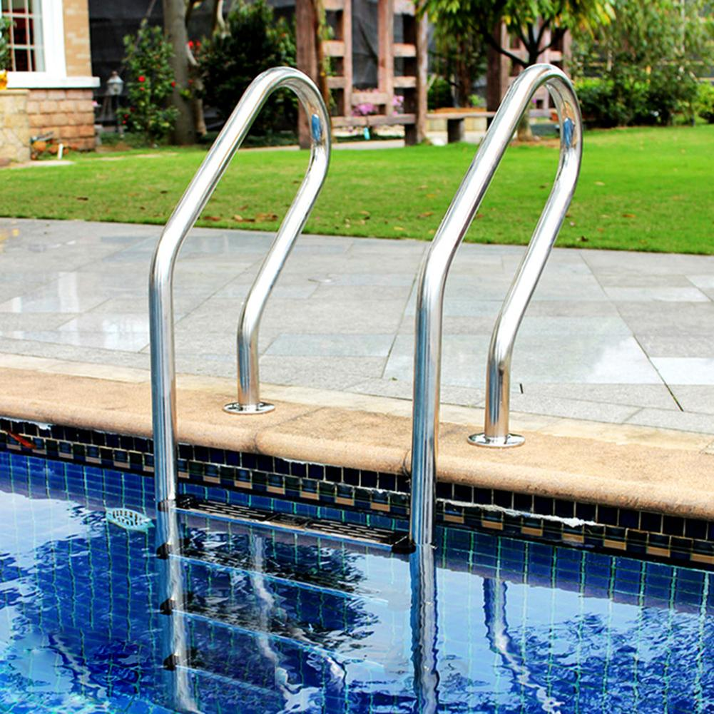 Swimming Pool Ladder Rung Steps Stainless Steel Replacement Anti Slip Ladder Pedal Escalator Ladder Pedal Non-slip Footstep