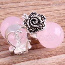 Jewelry Jade Earring Vintage Women's pink Opal 925 Sterling Silver Marcasite Earrings Free Shipping(China)