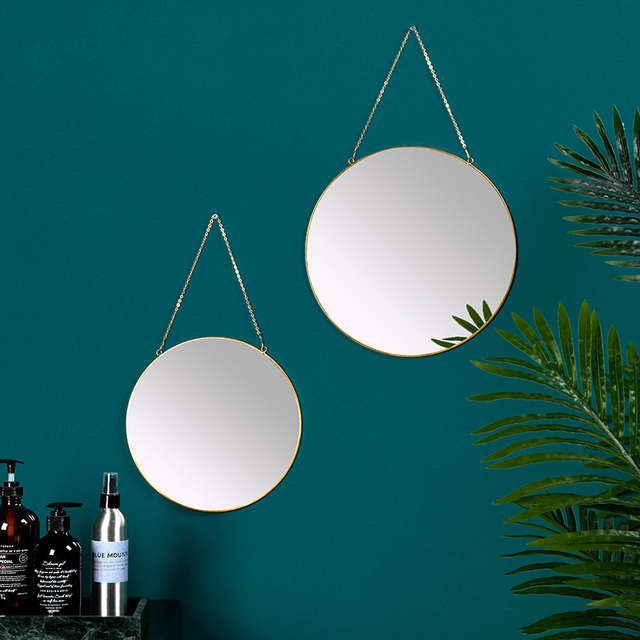 Northern Europe Originality Hallway Wall Mirror Decoration Pendant Home Furnishing Bedroom Makeup Personality Spiegel Glass 2