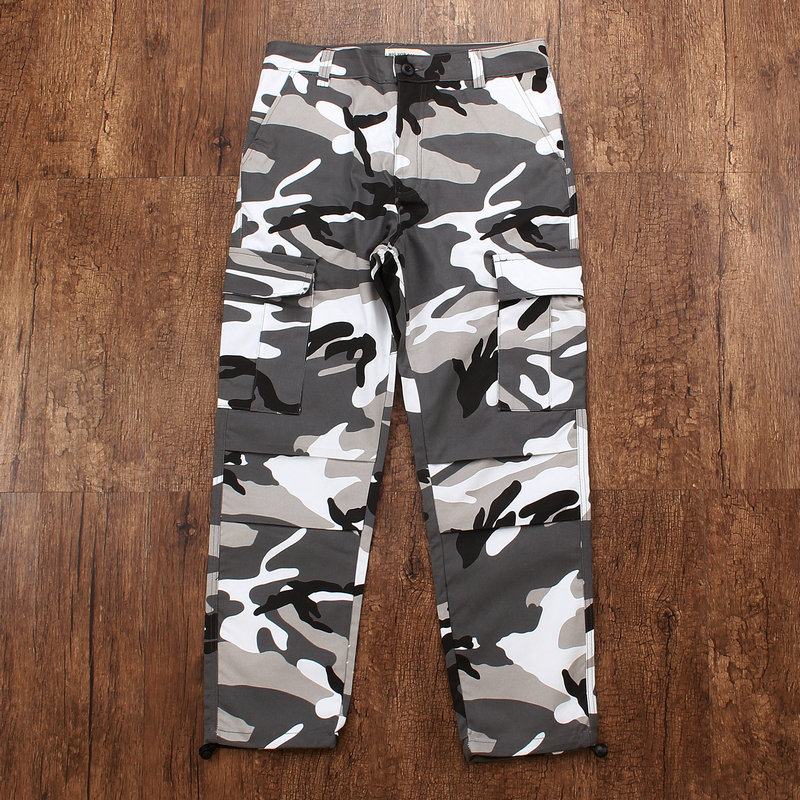 2019 Color Camo Camouflage Cargo Pants Men Casual Orange Tactical Sweatpants Hip Hop Pants Mens Trouser Fashion Pockets