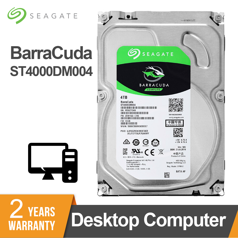 Seagate 4TB 3.5inch SATA 5900 RPM 6Gb/s 64MB Cache Desktop HDD Internal Hard Disk Drive For Computer ST4000DM004 HDD Drive Disk