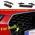 Автомобильная Передняя решетка для Audi S3 S4 S5 S6 S7 S8 RS3 RS4 RS5 RS6 RS7, эмблема решетки радиатора, автомобильный логотип, буква, номер, скоба, наклейка, ...