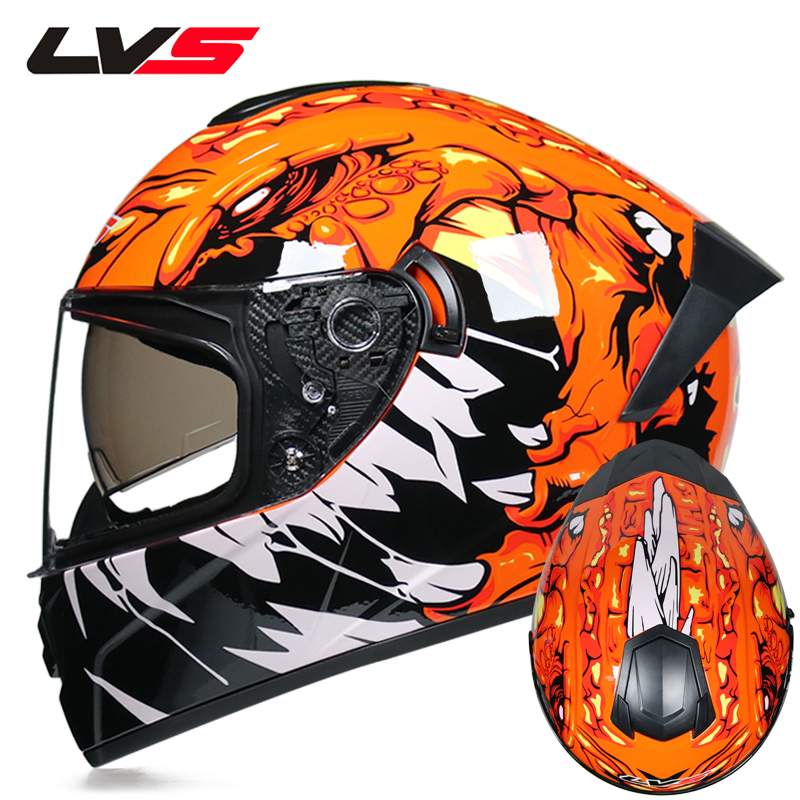 Motorcycle Full Face Helmet Snowmobile ATV Motorbike Street Bike Motor Riding Racing With Clear Lens Shield For Men Women