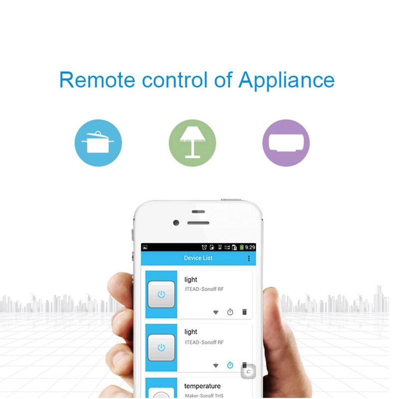 Hot Koop Sonoff S20 Eu Wifi Smart Socket Schakelaar Eu E/F Plug App/Vocie Afstandsbediening stopcontact Timing Werkt Met Alexa 4