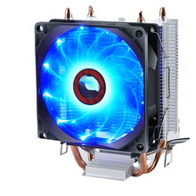 Fan Heat Sink CPU Cooler Aluminum Double Heat Pipe Radiator Hydraulic