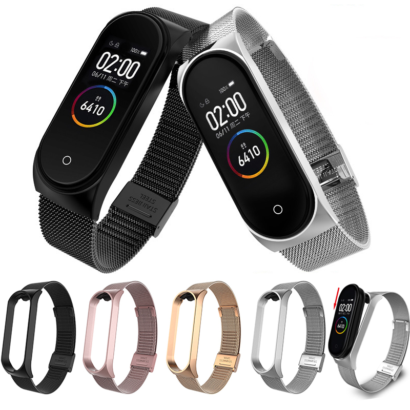 Stainless Steel Strap For Xiaomi Mi Band 3 4 Smart Bracelet For Pulseira Mi Band 3 Replaceable For Pulseira Mi Band 4 Watch Band