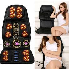 Car Massage Cushion Electric Massage Chair Pad Cushion Home Massager Auto Relax Car Full-body Seat Office Pad Massager Chai I6S2