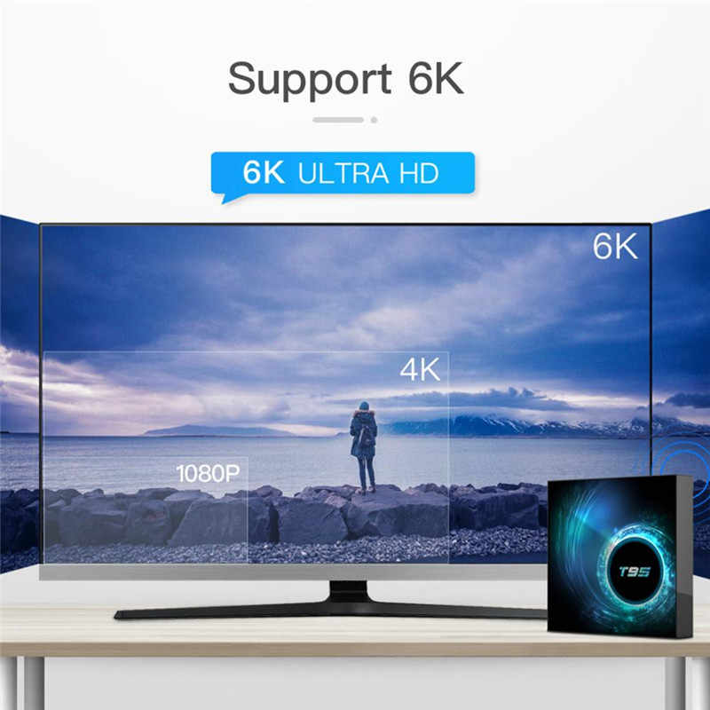 T95 caja de Tv inteligente Android 10,0 reproductor multimedia Allwinner H616 H.265 6K MX3 de voz de Google I8 aire ratón Youtube IPTV Set Top Box