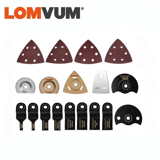 LOMVUM Accessories for oscillating tools full set sanding  paper cutting blade