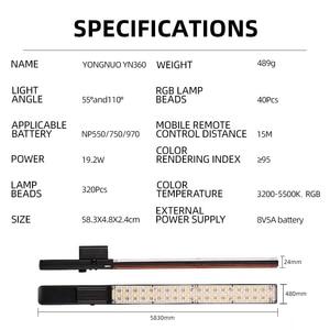 Image 5 - YONGNUO YN360 Cầm Tay Đèn LED Video 3200K 5500K RGB Nhiều Màu 39.5CM Băng Dán Chuyên Nghiệp LED Chụp Ảnh Dính (Chỉ Có Đèn Led)