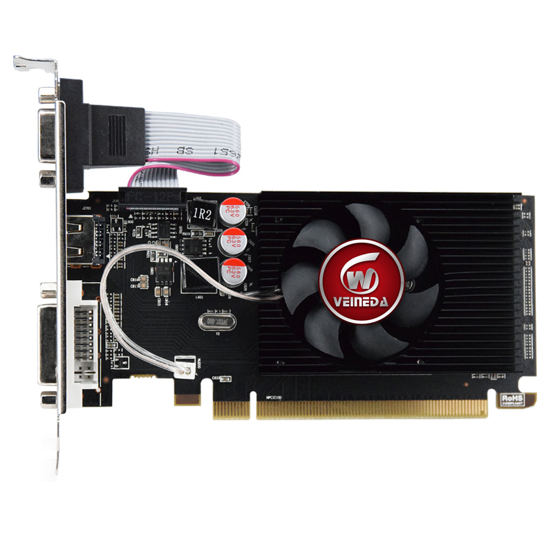 HD6450 GPU Veineda Desktop Graphics Cards hd6450 2GB DDR3 Graphic Video Card PCI Express For ATI Radeon Gaming 2