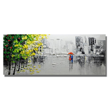The street view Flowers Abstract Oil Painting On Canvas For Living Room Home Pictures Paint By Modern Oil Wall Art Paintings