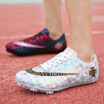 Women #8217 s Men #8217 s Track and Field Shoes Nail Running Shoes Racing Sprint Shoes Light Soft Comfortable Professional Sports Shoes tanie i dobre opinie Mangobox CN (pochodzenie) SYNTETYCZNE Na twardy kort Zaawansowane Dla osób dorosłych oddychająca Masaż Buty utwór i pola