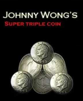 Super potrójna moneta autorstwa johnny #8217 ego wonga magiczne sztuczki tanie i dobre opinie Other CN (pochodzenie) Unisex Pływające MIGAJĄCE Brzmienie Rośnie Zniknięcie Nauka ŁATWE DO WYKONANIA Beginner Profesjonalne