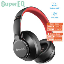 Cuffie Wireless oneodisuepereq Bluetooth 5.0 cuffie ibride con cancellazione attiva del rumore cuffie Stereo HiFi trasparenti