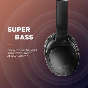 Image 3 - COWIN E9 능동형 소음 차단 헤드폰 Bluetooth 헤드폰 마이크가있는 무선 헤드셋 Aptx HD 사운드