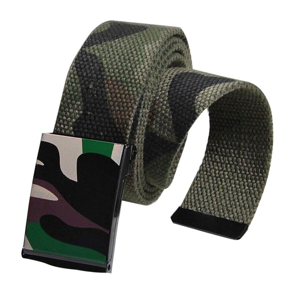 Jaycosin Unisex Automatic Square Buckle Waist Strap Decoration Stylish Accessories Leisure Soft Sports Canvas Belts