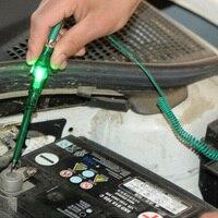 DC 6 В/12 В/24 В автомобильная лампа напряжение цепи тест er системы Детектор зонд тестовые огни пластик и углеродистая сталь ручка зеленый