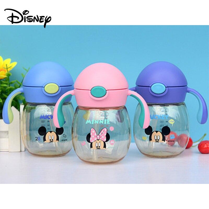 Disney Children's Cup Sippy Cup Plastic Kids Cute Belt Leakproof PPSU Cup Cartoon Cute Kettle