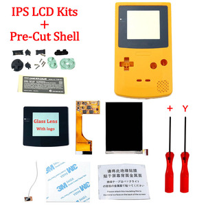 Image 3 - Full Screen Backlight IPS LCD With Pre cut Shell Case for Gameboy Color ips backlight LCD screen for GBC with housing shell case