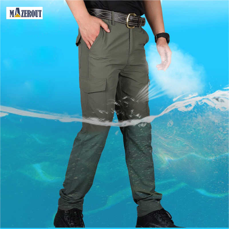 Casual Cargo Mens Stretch Pants Work Climbing Sports Walking Breathable Trousers